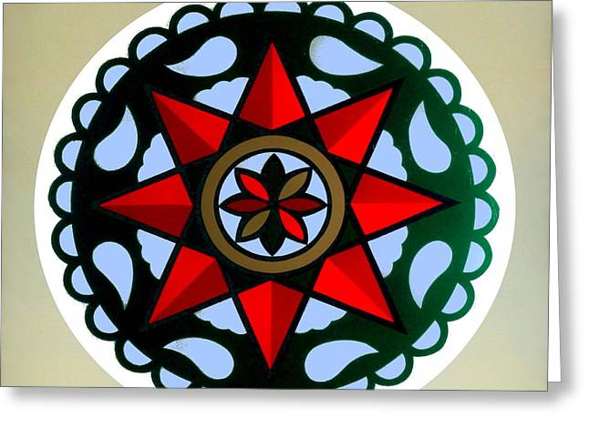 Pennsylvania Dutch Hex 1 Greeting Card by Hanne Lore Koehler