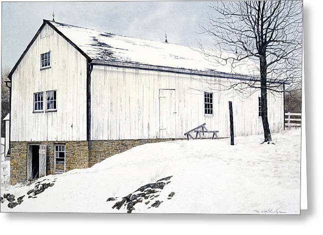 Greeting Card featuring the painting Pennsylvania Dutch by Tom Wooldridge