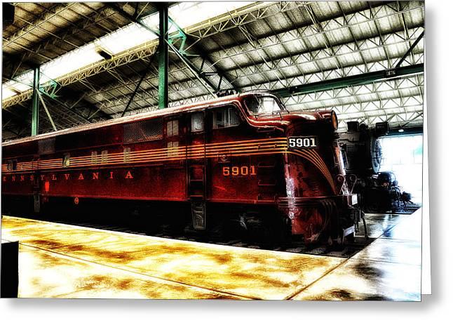 Pennsylvania Railroad Engine 5901 Greeting Card by Bill Cannon