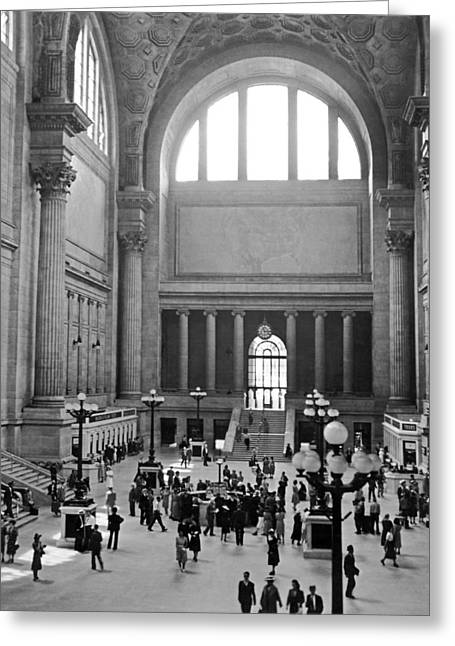 Pennsylvania Station Interior Greeting Card by Underwood Archives