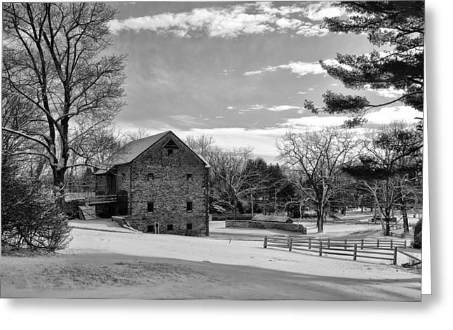Pennsylvania Winter Scene Greeting Card by Bill Cannon