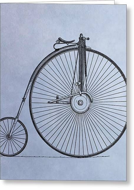 Penny Farthing Bicycle Greeting Card by Dan Sproul