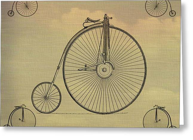 Penny Farthing Poster Greeting Card by Dan Sproul