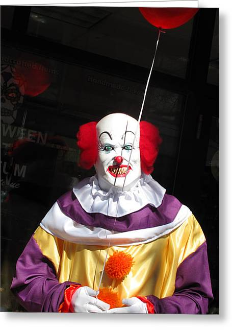Pennywise Greeting Card by Barbara McDevitt