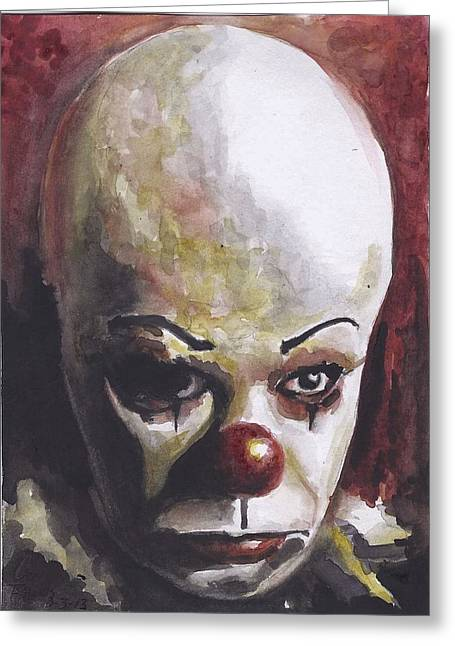 Pennywise Greeting Card by Casey Rhodes