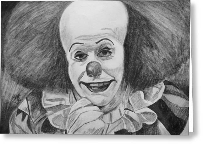 Pennywise Greeting Card by Jeremy Moore