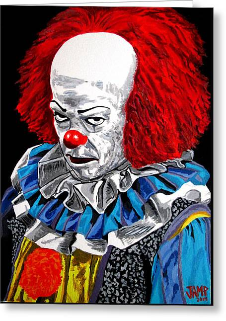 Pennywise Greeting Card by Jose Mendez