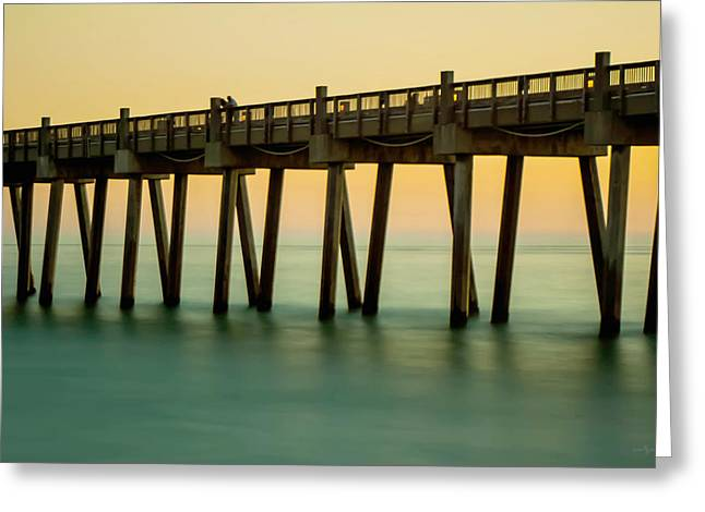 Pensacola Beach Fishing Pier Greeting Card