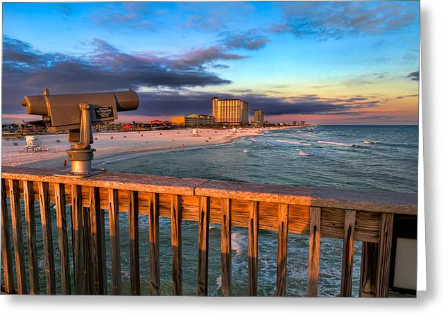 Pensacola Beach From The Pier Greeting Card by Tim Stanley