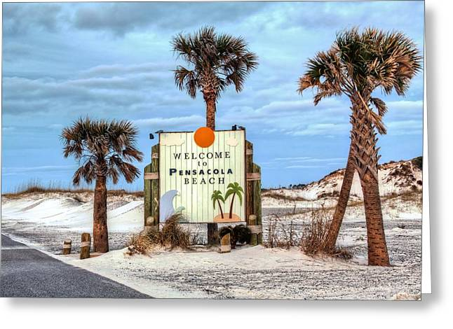 Pensacola Beach Greeting Card by JC Findley