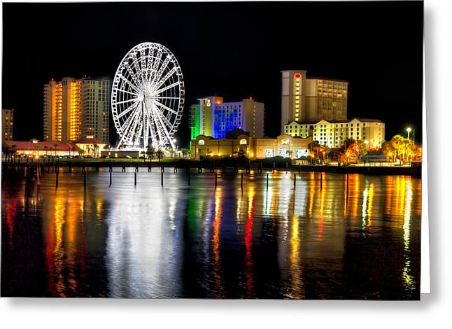 Pensacola Beach Skyline Greeting Card by Tim Stanley