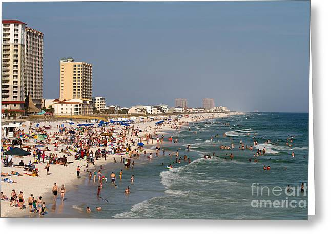 Pensacola Beach Tourists Greeting Card