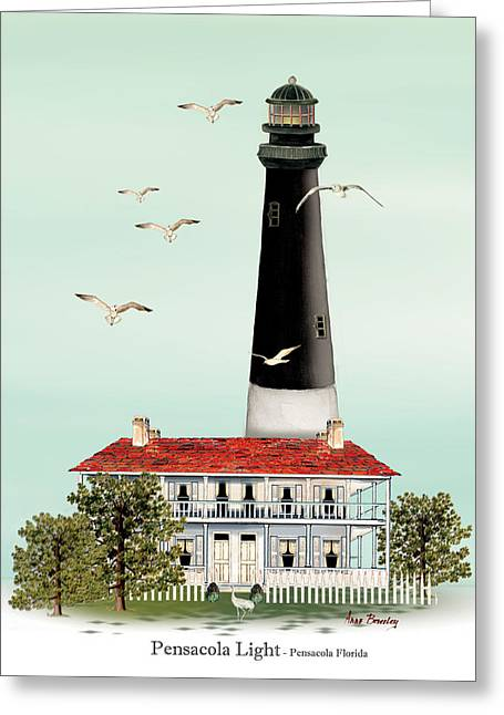 Pensacola Light House Greeting Card