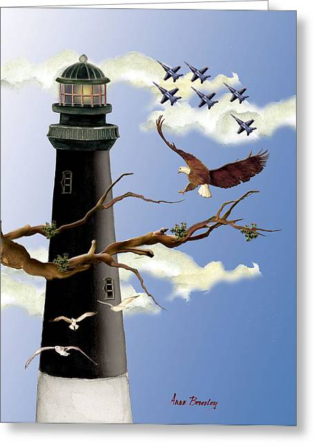 Pensacola Light House Tower Greeting Card