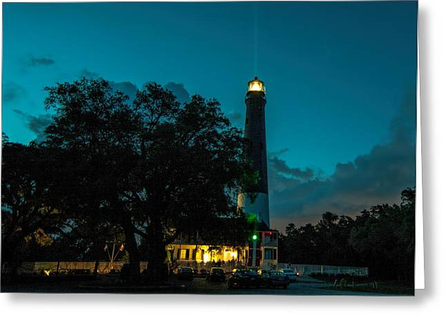Pensacola Lighthouse Greeting Card by Dorothy Cunningham