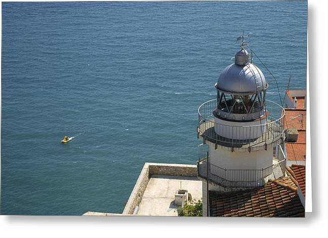 Pensicola Lighthouse Greeting Card by Jim  Wallace