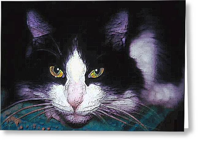 Pensive Cat Greeting Card