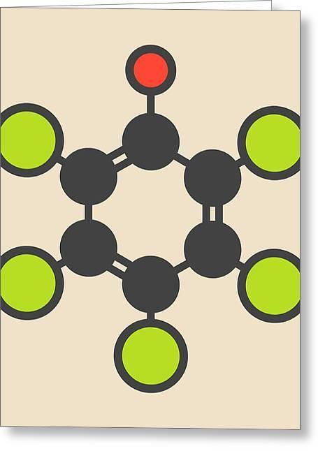 Pentachlorophenol Pesticide Molecule Greeting Card by Molekuul