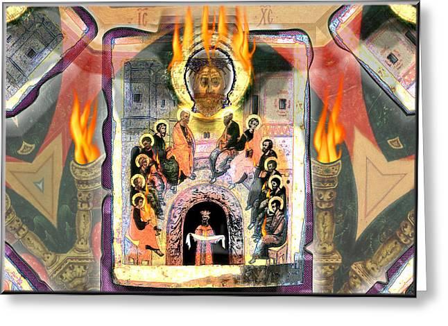 Pentecost 2009 Greeting Card by Glenn Bautista