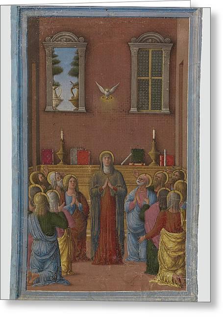 Pentecost Girolamo Da Cremona, Italian, Active About 1450 - Greeting Card