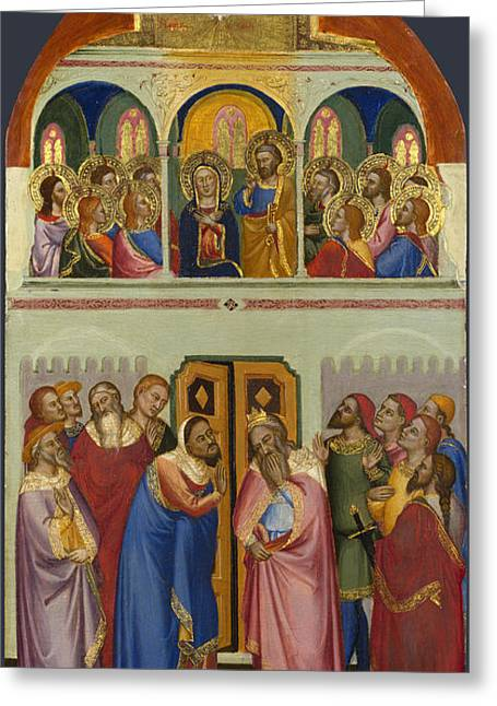 Pentecost Greeting Card by Jacopo di Cione and Workshop