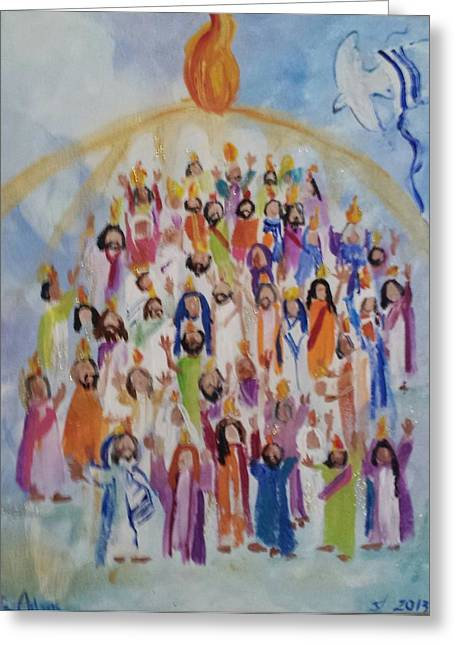 Pentecost Greeting Card