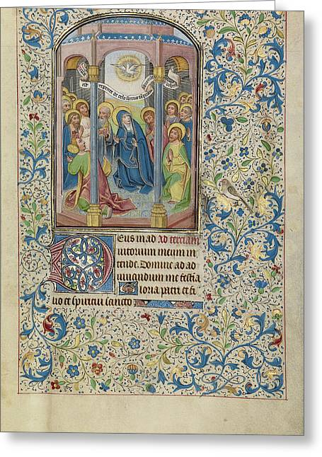 Pentecost Willem Vrelant, Flemish, Died 1481 Greeting Card
