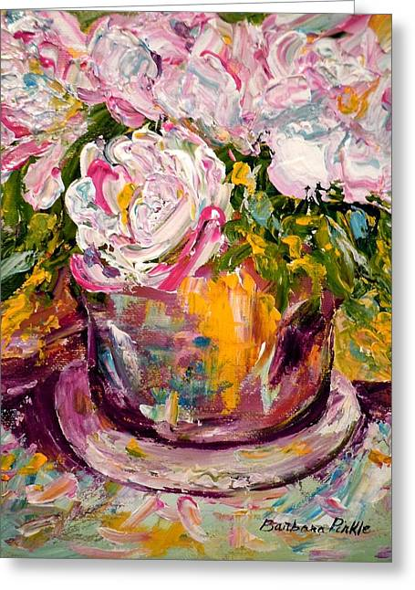 Peonies Greeting Card by Barbara Pirkle