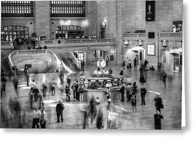 People At The Grand Central Station Greeting Card