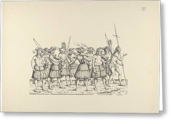 People From Calicut, From The Triumphal Greeting Card