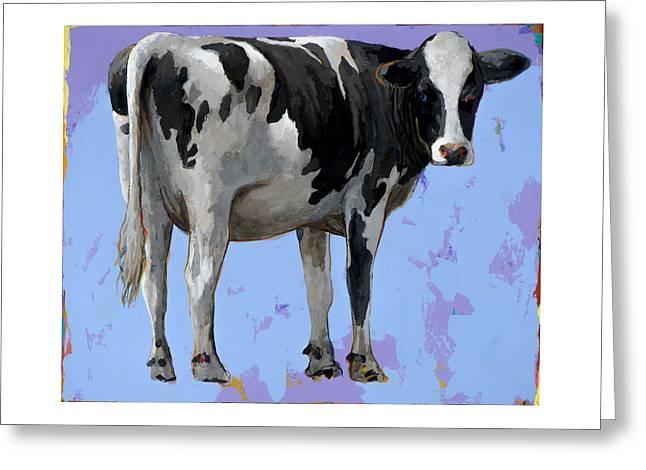 People Like Cows #11 Greeting Card by David Palmer
