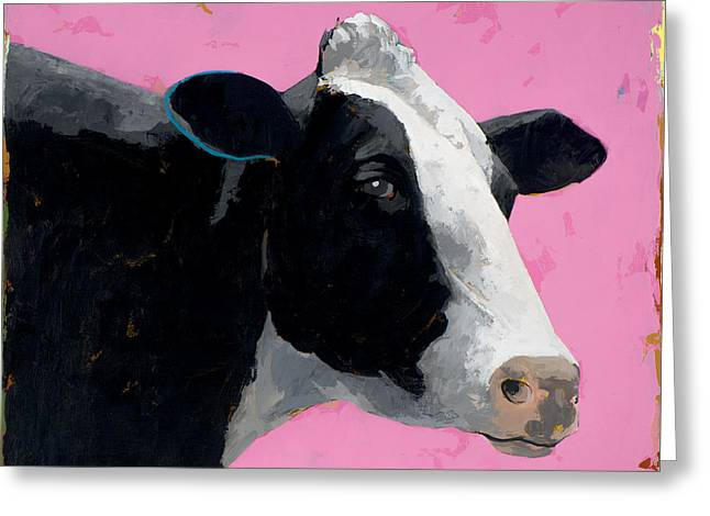 People Like Cows #13 Greeting Card by David Palmer