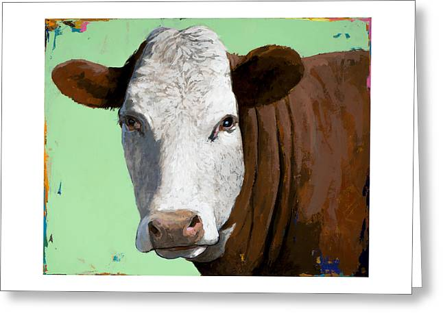 People Like Cows #14 Greeting Card by David Palmer