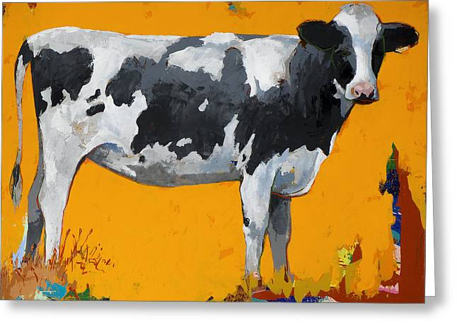 People Like Cows #16 Greeting Card by David Palmer