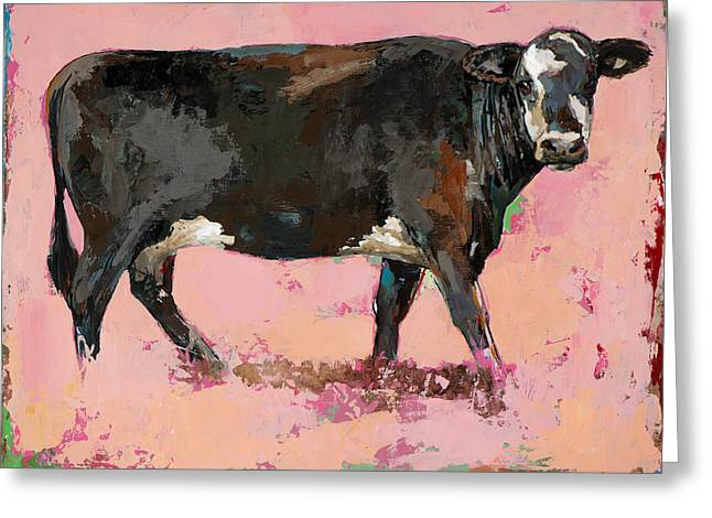 People Like Cows #2 Greeting Card by David Palmer