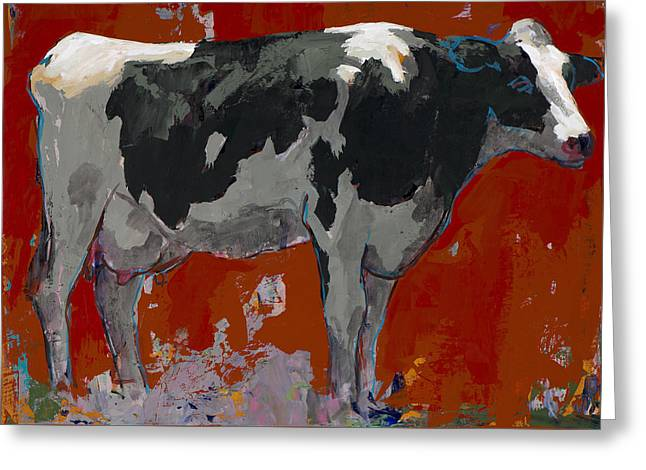 People Like Cows #3 Greeting Card by David Palmer