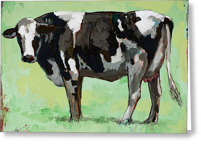 People Like Cows #5 Greeting Card by David Palmer
