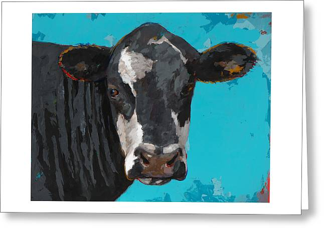 People Like Cows #8 Greeting Card by David Palmer
