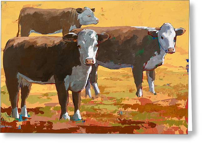 People Like Cows #9 Greeting Card by David Palmer