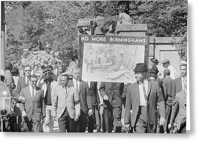 People March In Memory Of Negro Greeting Card