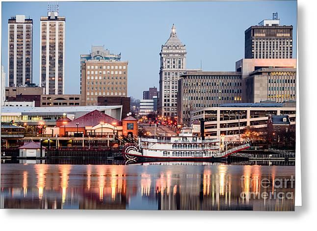 Peoria Illinois Skyline Greeting Card by Paul Velgos