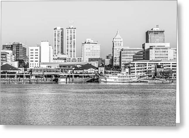 Peoria Panorama Black And White Photo Greeting Card by Paul Velgos