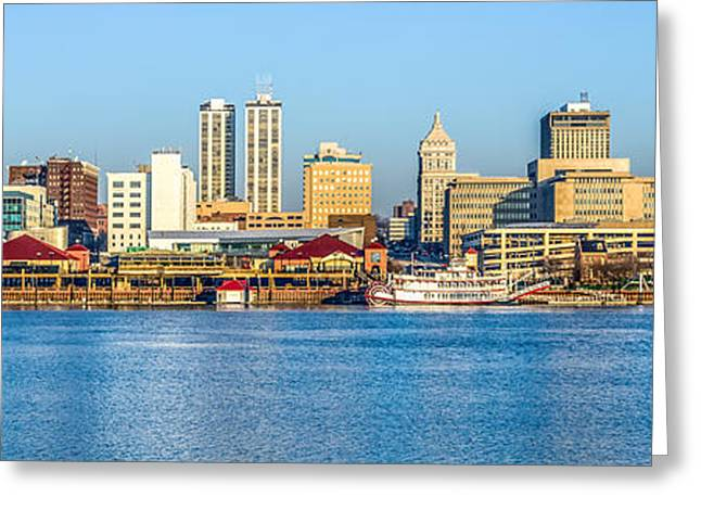 Peoria Panoramic Picture Greeting Card by Paul Velgos