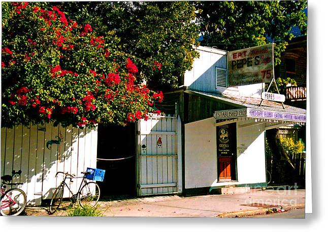 Pepes In Key West Florida Greeting Card by Susanne Van Hulst