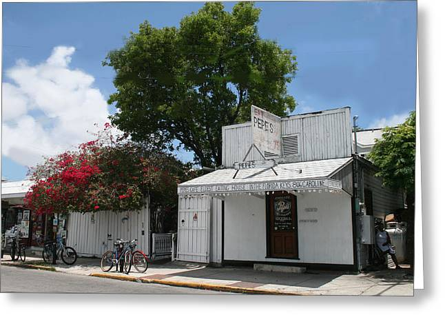 Pepe's Of Key West Greeting Card
