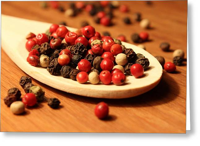 Peppercorns Greeting Card by Joseph Skompski