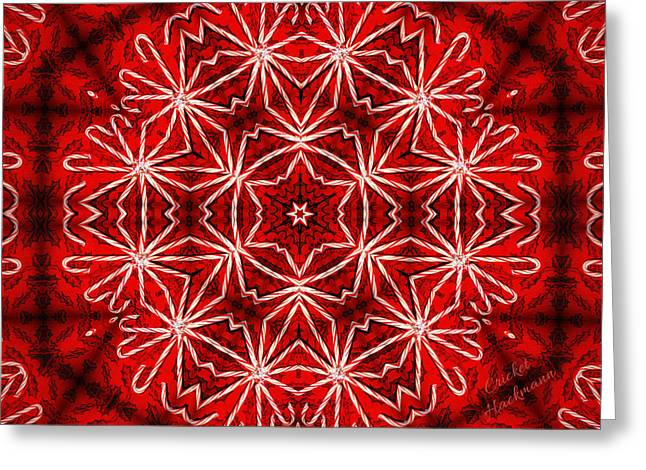 Peppermint Snowflake Greeting Card