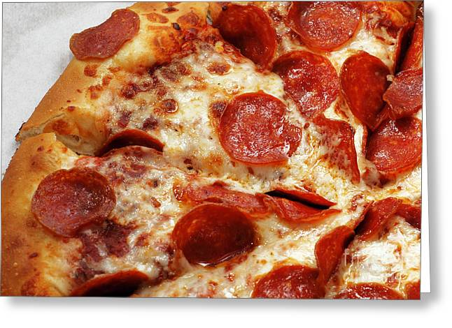 Pepperoni Pizza 2 - Pizzeria - Pizza Shoppe Greeting Card