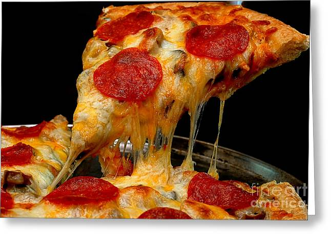 Pepperoni Pizza Slice Greeting Card by Danny Hooks