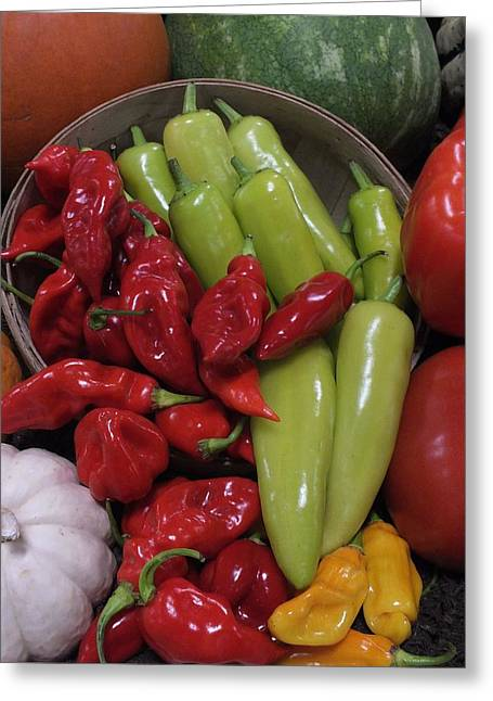 Peppers Etc. Greeting Card by Christina Shaskus